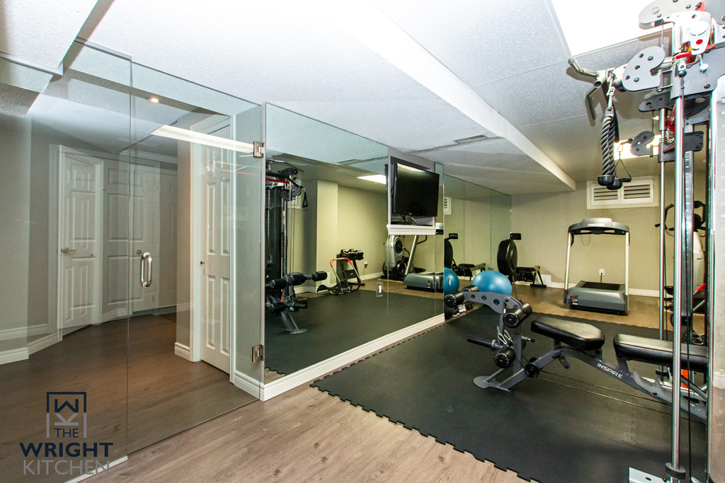 gym in the basement