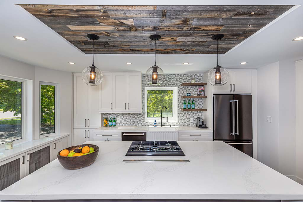 Wood Roof Kitchen Island