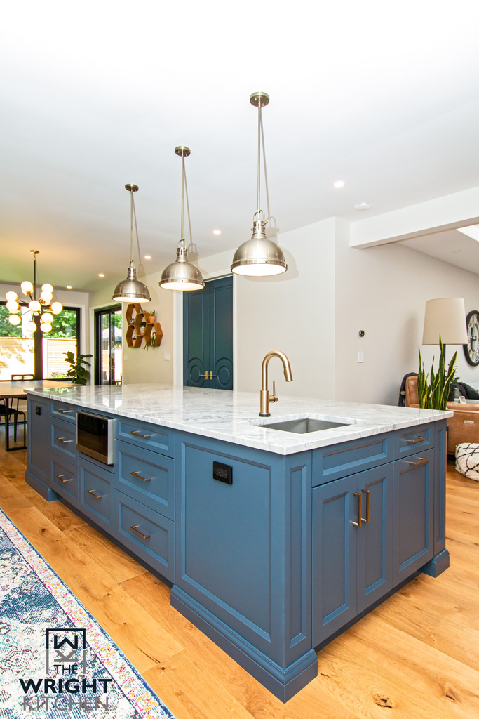 New Blue Kitchen Island