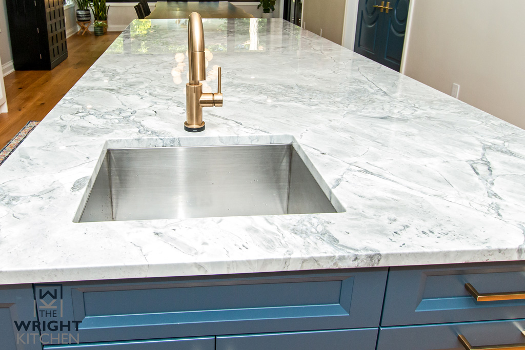 Sink Inside a Marble Counter Island