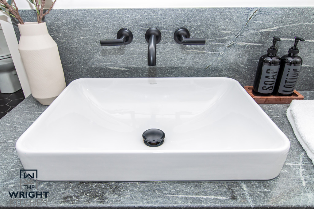New Bathroom Wide White Sink